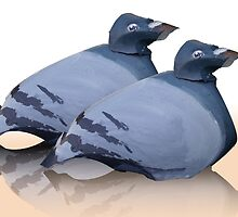 couple of doves by Ruud van Koningsbrugge