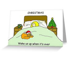 Wake us up when Christmas is over. Greeting Card