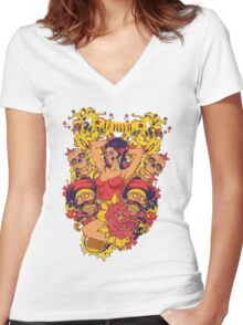 Death's world Women's Fitted V-Neck T-Shirt