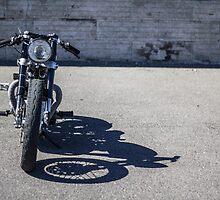 Bonneville Cafe Racer Redux by motolady