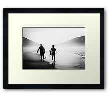 Surfers bond Framed Print