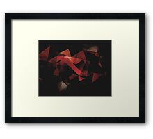 Orange Grunge Geometric Abstract  Framed Print