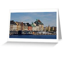 Gamlastan across the harbour- Stockholm Greeting Card
