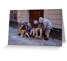 Preoccupied- Stockholm Greeting Card