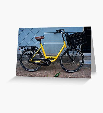 Yellow bike-Amsterdam Greeting Card