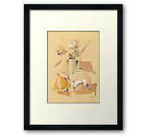 Still life with mushroom Framed Print