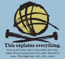 Funny knitting needles ball of yarn jargon Baby Tee