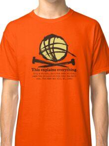 Funny knitting needles ball of yarn jargon Classic T-Shirt