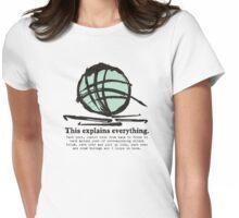 Funny crochet hooks ball of yarn jargon tee Womens Fitted T-Shirt
