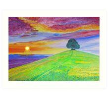 Sunset Of The Summer Sky Art Print