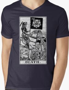 Death Tarot Card - Major Arcana - fortune telling - occult Mens V-Neck T-Shirt