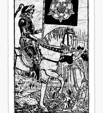 Death Tarot Card - Major Arcana - fortune telling - occult Sticker
