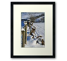 Snow in the Lakes Framed Print