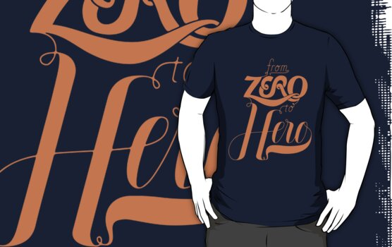 From Zero To Hero Typography by yogags
