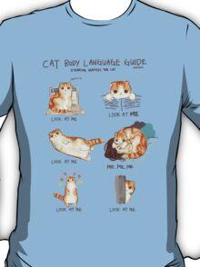 Cat Body Language Guide T-Shirt