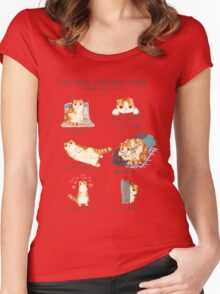 Cat Body Language Guide Women's Fitted Scoop T-Shirt