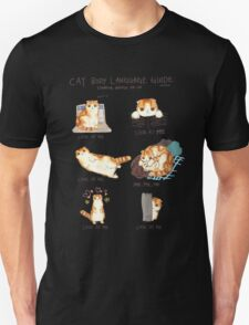 Cat Body Language Guide Unisex T-Shirt