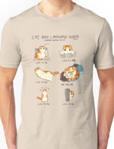 Cat Body Language Guide Unisex T-Shirt