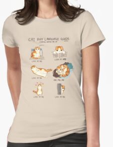Cat Body Language Guide Womens Fitted T-Shirt