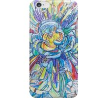 Blue explosion iPhone Case/Skin