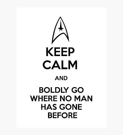 Keep Calm and Star Trek Photographic Print