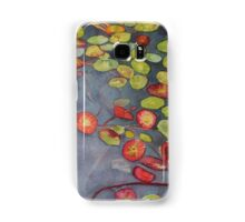 Lily pads on One Mile Lake, watercolor on paper mounted on board Samsung Galaxy Case/Skin