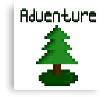 Pixel Forest Green Adventure  Canvas Print