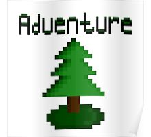 Pixel Forest Green Adventure  Poster