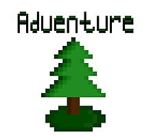 Pixel Forest Green Adventure  Photographic Print