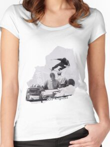 LoVe OveR a DEsK Women's Fitted Scoop T-Shirt