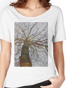 Knitting the Wind, mixed media on canvas Women's Relaxed Fit T-Shirt