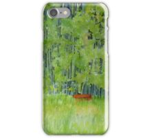 Resting on a Park bench iPhone Case/Skin