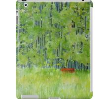 Resting on a Park bench iPad Case/Skin