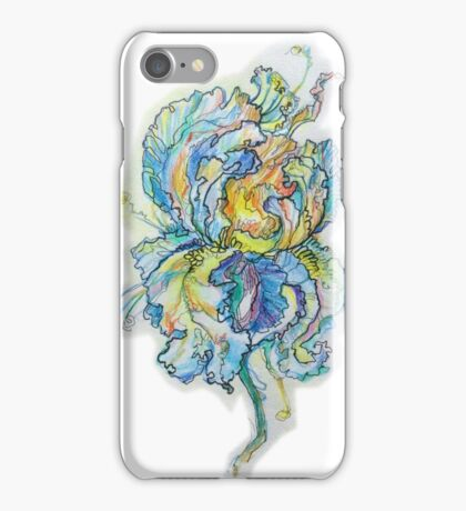 Blue flower iPhone Case/Skin