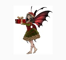 Christmas Fairy Elf Girl Holding a Gift Unisex T-Shirt