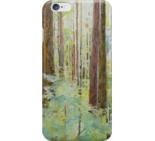 Seeing the Forest through the Trees, watercolor and mixed media on paper mounted on board, wax finish iPhone Case/Skin