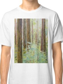Seeing the Forest through the Trees, watercolor and mixed media on paper mounted on board, wax finish Classic T-Shirt