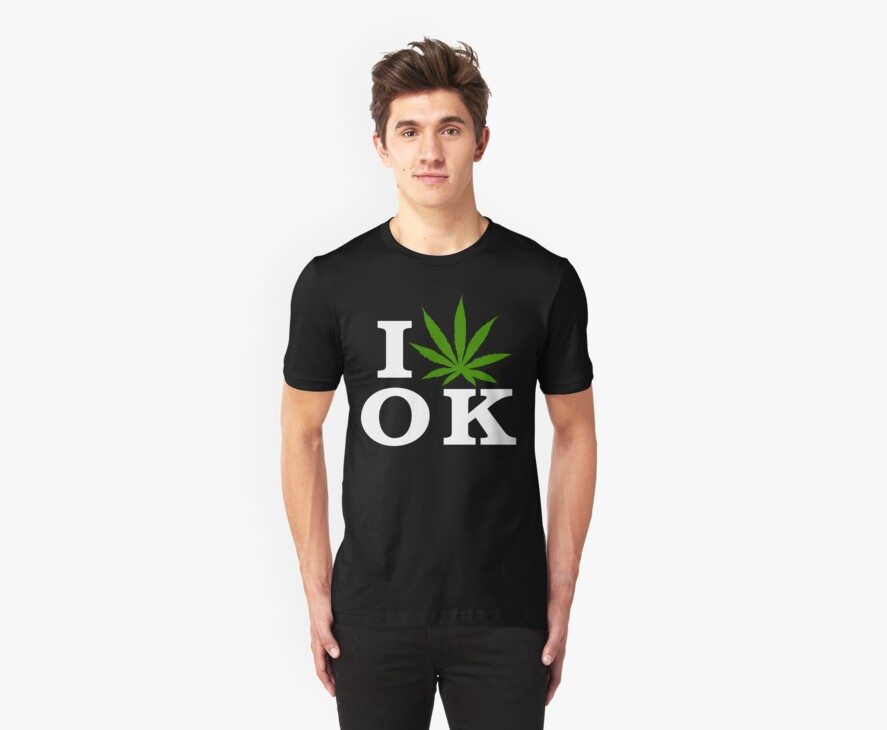 I Love Oklahoma Marijuana Cannabis Weed T-Shirt by MarijuanaTshirt