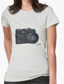 Classic Russian camera Womens Fitted T-Shirt