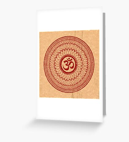 om mandala (liáliom) Greeting Card