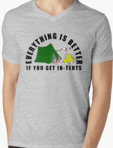 Get In-Tents. Mens V-Neck T-Shirt