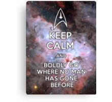 Keep Calm and Star Trek I Canvas Print