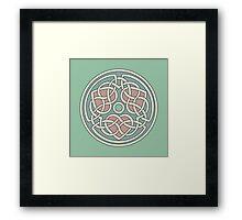 Triple Heart Celtic Knot Framed Print