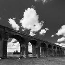 Welland Viaduct in Black and White by Ralph Goldsmith