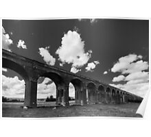Welland Viaduct in Black and White Poster