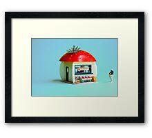 The Strawberry kiosk Framed Print