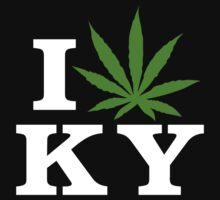I Love Kentucky Marijuana Cannabis Weed T-Shirt by MarijuanaTshirt