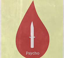 Minimal Psycho Poster - Alfred Hitchcock Movie by Tommy Brown