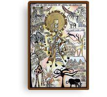 African Dada Doll Canvas Print
