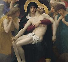 Pieta, 1876 (oil on canvas) by Bridgeman Art Library